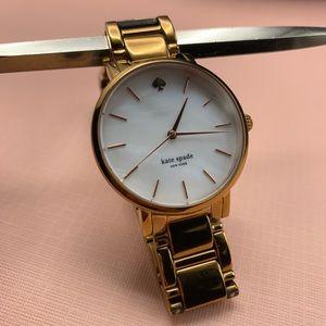 Late spade watch rose gold tone